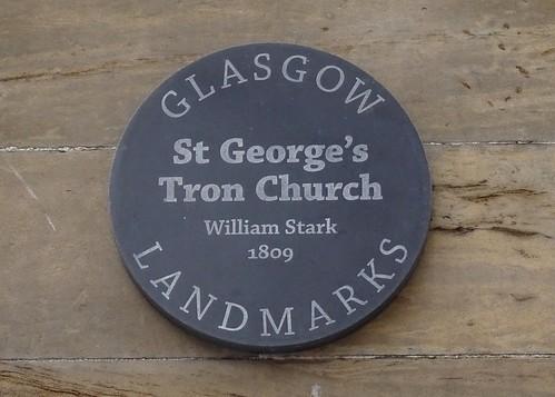 St. Georges's Tron Church Plaque, Glasgow