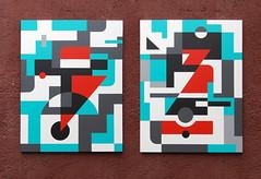 "Dyptich-1""Communication&Target"",Yuri Averin. (Averin Yurii Yourun) Tags: yuriaverin averin abstraction abstractart art artfoundation artresidency montresso moroc marrakesh morocco canvas africa graffuturism postgraffiti artwork geometry geometric totemism supremsib contemporaryart"