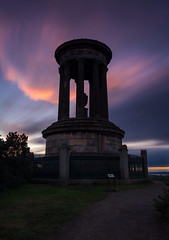 Drama in the sky (Kyoshi Masamune) Tags: edinburghatnight sunset sigma1750mmf28 zomei longexposure nd8 cokinfilters cokinnd8 dugaldstewartmonument scotland kyoshimasamune clouds cloudscape caltonhill edinburgh nd1000 uk zomeind1000