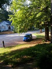 Honda Fit on our street (cbb4104) Tags: honda fit hondafit 2008honda bluecar culdesac