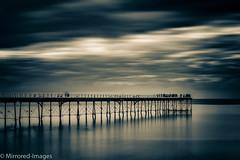 Time and Tide (Mirrored-Images) Tags: blur clouds coast le longexposure movement northeastengland ocean outdoor pier saltburn sea sky splittoning