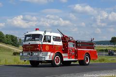 Mack C-Model Fire Truck (Trucks, Buses, & Trains by granitefan713) Tags: mack macktruck firetruck fire trucktoberfest truckshow showtruck antique antiquefiretruck classic oldschool oldfiretruck pumper pumpertruck