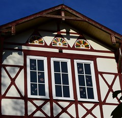 (:Linda:) Tags: germany thuringia town hildburghausen hospital historicism rocaille andreaskreuz window three halftimbered gable