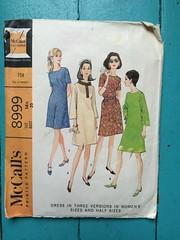 McCall's 8999 (kittee) Tags: kittee vintagesewing vintagepattern simplicity simplicity8999 8999 size1412 bust35 wouldsell dress 1967 1960s 34sleeves bellsleeves shortsleeves buttonplacket rolledcollar