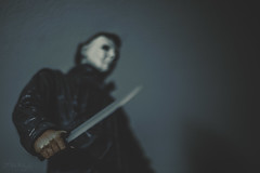 Death has come to your little town, sheriff. (3rd-Rate Photography) Tags: halloween michaelmyers knife toy killer slasher horror toyphotography neca canon nikon freelens lenswhacking jacksonville florida 3rdratephotography earlware