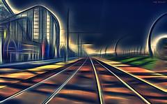 Tramlines (Billy McDonald) Tags: fractalius tramlines blackpool pepsimax pleasurebeach