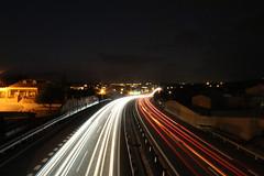 Carretera nocturna (alexsv92) Tags: carretera coches luces night noche estrellas