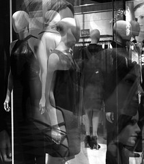 121 (eirelgeuse) Tags: bw blackandwhite mannequins identity overlay abstract glitch