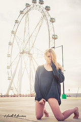 IMG_2281 (mozzie71) Tags: city sunset urban sun cute feet girl wheel foot sweater athletic model glare sweet australian young australia melbourne ferris blonde jumper 16 backlit