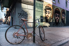 Abandoned Bike...it's one of my things I look for. (www.higbyphotography.com) Tags: old streets abandoned bike brooklyn mural streetphotography forgotten rusted williamsburg crusty abuse ignored billyburg mistreated rustybicycle streetgrafitti
