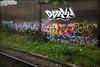 Baby, Sample, Festa... (Alex Ellison) Tags: urban baby news graffiti boobs railway line sample graff ac festa tgs trackside allcity northwestlondon