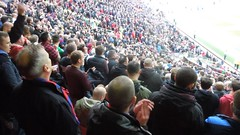 Palace supporters at Old Trafford (video) (Paul-M-Wright) Tags: old november manchester football video crystal stadium united saturday palace v match trafford premier league 08 2014