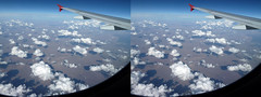 Cumulus humilis Stereo Pair (Stan Celestian) Tags: clouds stereo cumulus cumulusclouds cumulushumilis stereopictures