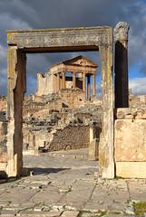 Looking from the Dar Lachheb temple to the Capitol (jonfholl) Tags: roman tunisia capitol tunisie punic dougga thugga