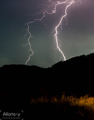 Tandem Strike (Daniel Hall - AUS) Tags: storm night newcastle bay australia nelson newsouthwales lightning storms strikes