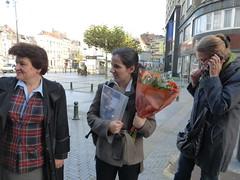 Time to say good-bye (egf _fem) Tags: brussels flower lunch restaurant italian belgium rosa fem farewell susanne bistra egf lamamma