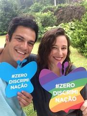 Mateus Solano e sua esposa, Paula Braun, são os maiores porta-vozes de #ZeroDiscriminação no Brasil. Junte-se a eles e poste sua selfie com a εїз borboleta!