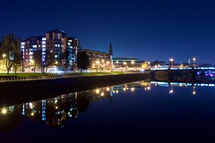 The Metropole & Waterfront (Daisy Swain) Tags: city longexposure bridge winter night canon river scotland riverclyde waterfront glasgow nighttime metropole 6d clydeside canon1740mm
