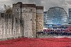 Tower Hill Memorial (Joebelle) Tags: red london castle canon geotagged memorial war poppies walls remembrance geotag gherkin hdr worldwar armistice photomatix 40d canon40d platinumheartaward bloodsweptlands seasofblood