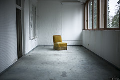 Le Fauteuil Jaune. (Arthur Janin.) Tags: leica old light urban black france green art abandoned beautiful architecture forest 35mm vintage germany deutschland hotel arthur photo photographie angle natural top f14 wide floating style pic m valley elements exploration 35 vignetting foret schwarzwald summilux asph 240 janin fle urbex noire typ aspherical allemande