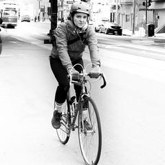 cyclist (rosserx) Tags: street city urban blackandwhite bicycle riding philadalphia