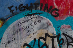 Indecision. (Cathy G) Tags: life berlin art canon germany thought jesus philosophy berlinwall drugs what fighting thewall indecision canon7d canon40mm lifesaved whatworksforyou