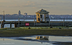 Looking over to the Wirral from Liverpool. 30th December 2014 (craigdouglassimpson) Tags: england urban water liverpool buildings reflections river waterfront scene peninsula mersey dilapidated wirral