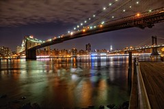 A View from Brooklyn (explored) (Photeelover) Tags: bridge newyork colour brooklyn colours unitedstates manhattan brooklynbridge manhattanbridge empirestate hudson hdr