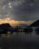Time to leave (VillaRhapsody) Tags: sunset sea people silhouette clouds evening jetty aegean gümüşlük reflectiions challengeyouwinner