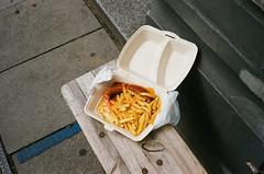 (joelbrendenphotography) Tags: leica food germany de fuji minolta hamburg rangefinder pro f2 40mm currywurst cle fujicolor 400h leitz rokkor