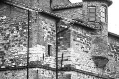 architectural forms, patterns, stone, brick, tile, Perugia, Umbria, Italy, Nikon D40, 4.29.13 (steve aimone) Tags: blackandwhite italy brick monochrome stone architecture tile pattern monochromatic perugia umbria nikond40 architecturalforms stonesurfaces