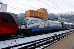 BB 1116 251-0 Railjet Ski Austria, Innsbruck Hbf (michaelgoll777) Tags: taurus bb 1116 werbelok es64u2