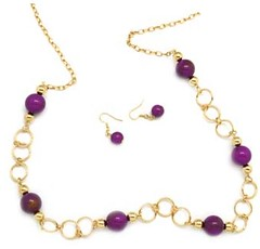 Glimpse of Malibu Purple Necklace P2420-1