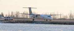 Porter Airlines Sunset Departure (jeandubrulee) Tags: toronto island airport 8 dash airline billy porter bishop bombardier 823 q400 cgkqc