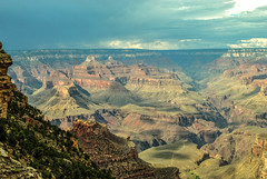 The Storm is Coming (E.Clerc) Tags: usa storm rock landscape nikon grandcanyon thunder d3000