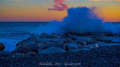 Nice - couch de soleil-28 (majorlaurent) Tags: sunset sea mer france water french roc nice eau wave vague couchdesoleil rochet