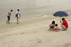 Happiest Moments    ..... (yadhavan.c) Tags: family beach kids umbrella canon happy parents sand moments play outdoor lovely joyful pleasure beachside ckphotography yadhavancphotography