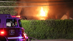 Vacant House Set on Fire (bcfiretrucks) Tags: rescue house canada news water fire photography tv haze media bc smoke flames engine columbia canadian structure surrey hose vacant fireman british firefighter department scba stringer fd involved dwelling iaff sfd bcpffa