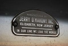 Jerry O'Mahony builder's tag, Seaplane Diner (63vwdriver) Tags: new ri island elizabeth jerry nj diner providence jersey rhode seaplane omahony