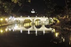 Tevere by night 2 (agennari) Tags: rome roma cupola tiber tevere sanpietro pontesisto