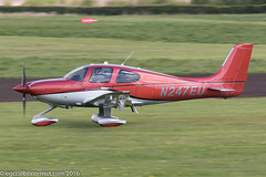 N247EU - 2016 build Cirrus SR22T GTS, rolling for departure on Runway 26L at Barton (egcc) Tags: manchester barton platinum cirrus gts lightroom demonstrator cityairport continentalmotors 1247 cirrusdesign egcb io550 sr22t n247eu