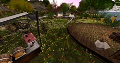 Party Island (Ima Peccable) Tags: parties secondlife hobbits shire dwarves elves secondlife:region=theshiresecondlifeparceltheshireahomelysliceofmiddleearthsecondlifex208secondlifey56secondlifez12