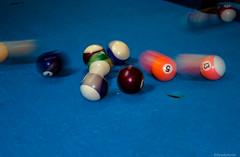 Pool (@Dpalichorov) Tags: blue macro pool table hit nikon cue flash trace balls blow trail shock strike billiards makro nikond3200 d3200 bluetable nikonflickraward flashtrails