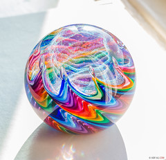 Colourful Paper-weight (Asif A. Ali) Tags: glass vibrant object vivid colourful paperweight colorsinourworld asifaali asifalicom canonpowershotg1xmarkii colourfulpaperweight