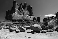 Arches NP in black and white (dylangaughan43) Tags: blackandwhite beauty utah amazing nikon desert moab nationalparks rockformations nikond5200