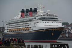 Full steam ahead (quintinsmith_ip) Tags: sea people river fun ship down tourist disney passenger passing shipping southshields waltdisney disneymagic rivertyne