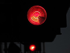 Reds at Redhill (Deepgreen2009) Tags: red two colour station danger lights railway trains safety signals aspect