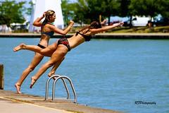 Dive In (richardf957 ( Thanks For All The Views)) Tags: ladies summer lake ontario port dive teens bikini dalhousie richardf rfphotography richardf957