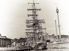 anchored at Kastelholmen (Dale Michelsohn) Tags: ocean sea water canon island boat dock sailing ship sweden stockholm sails baltic quay land mast grnalund trekronor kastelholmen g5x dalemichelsohn