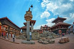 Bhaktapur, Nepal, a UNESCO World Heritage Site (CamelKW) Tags: nepal unescoworldheritagesite bhaktapur 2016 everestpanoram